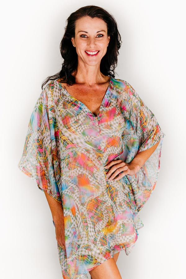 Lindeman short kaftan dress in chiffon