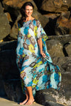Long Silk Kaftan Kua Bay