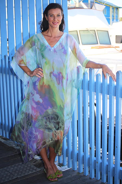 Make A Wish chiffon long kaftan