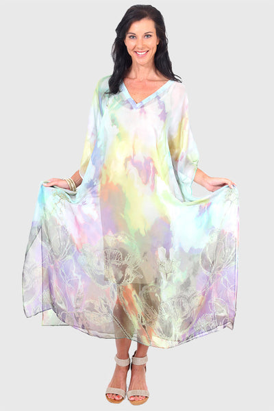 Make A Wish long kaftan in chiffon