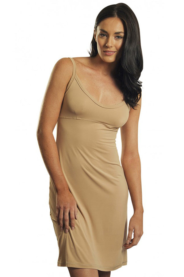 Marielle slip dress in microfibre