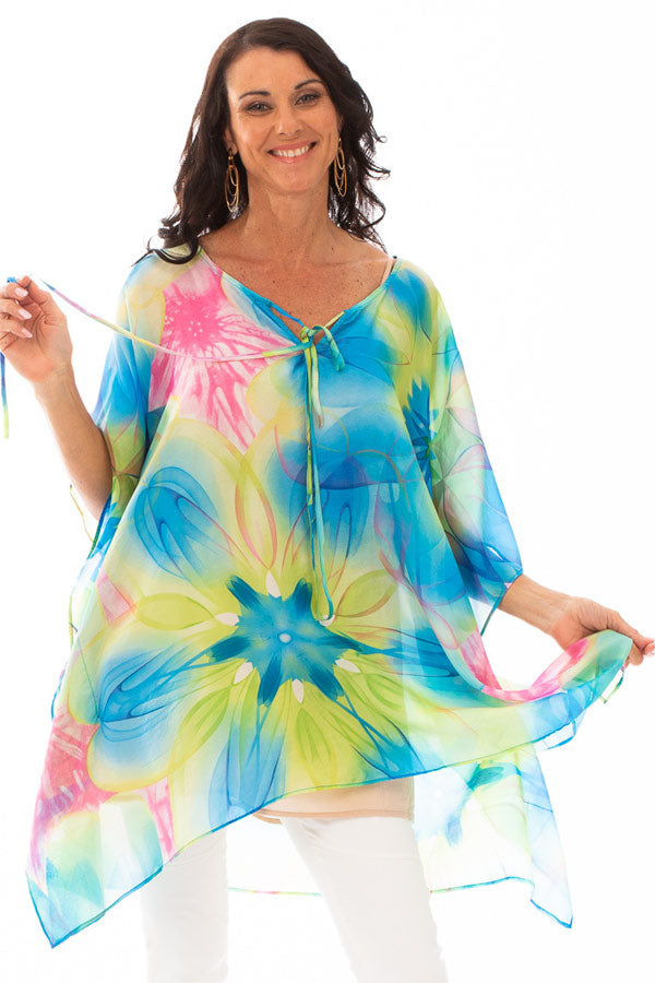 Maui Short Silk Kaftan Dress