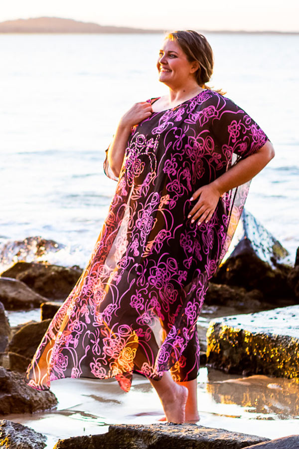 Na Poli Silk Kaftan Dress, Laloom Kaftans