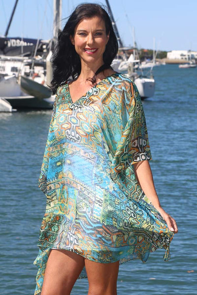 Secret Happiness chiffon short kaftan