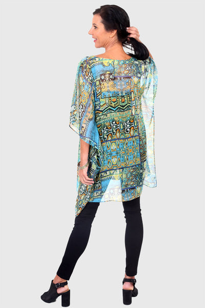 Secret Happiness kaftan in chiffon