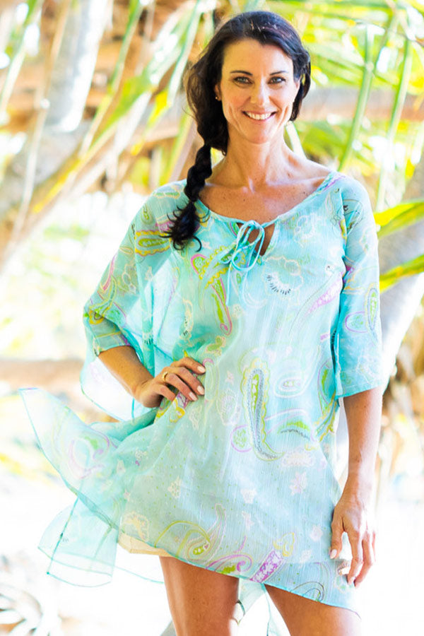 Short Ka'ula Kaftan Dress, Laloom Kaftans