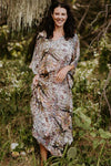 The Bedarra pure silk long kaftan dress