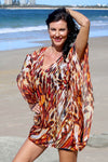 Wild Thing short kaftan in silk