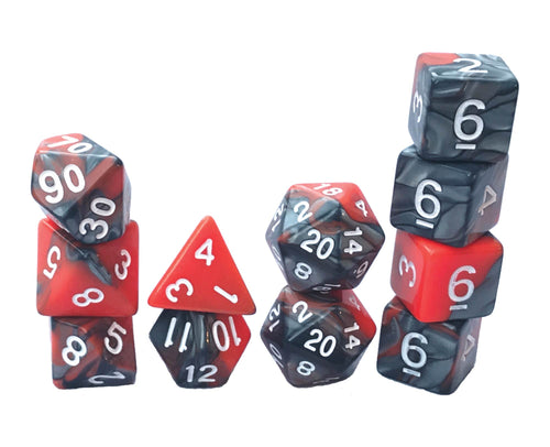 Mystic Dice DnD Dragon Scales - 11 Piece dice set for Dungeons and Dragons