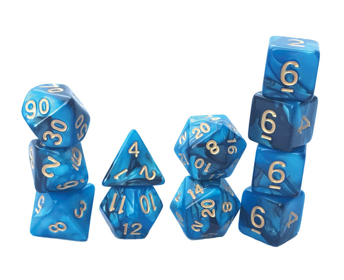 Mystic Dice DnD Leviathan's Lair - 11 Piece dice set for Dungeons and Dragons