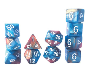 Mystic Dice DnD Mermaid Jewel - 11 Piece dice set for Dungeons and Dragons