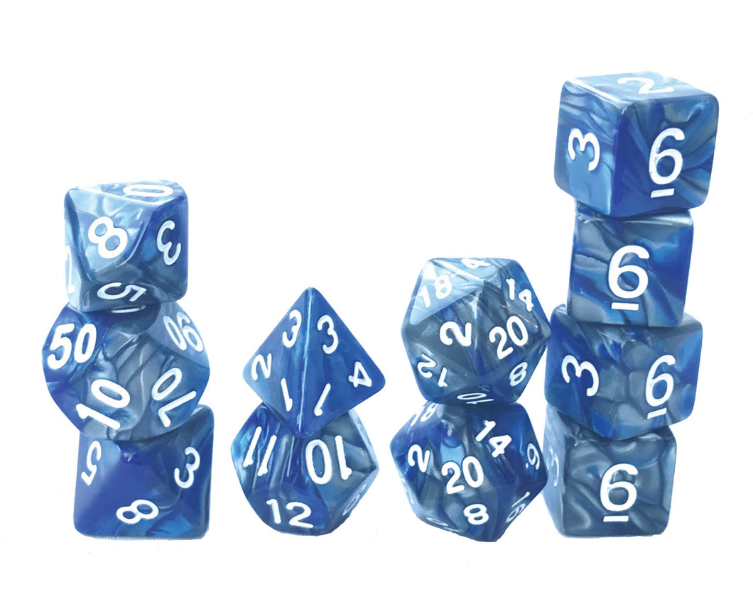 Mystic Dice DnD Mystic Fog - 11 Piece dice set for Dungeons and Dragons