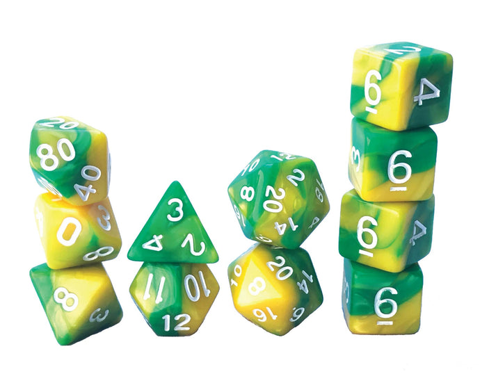 Mystic Dice DnD Serpent Tail - 11 Piece dice set for Dungeons and Dragons