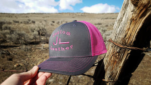 Grey JL Hat with Pink Logo