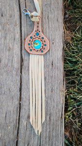 Turquoise inlay keychain