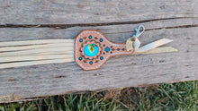 Load image into Gallery viewer, Turquoise inlay keychain