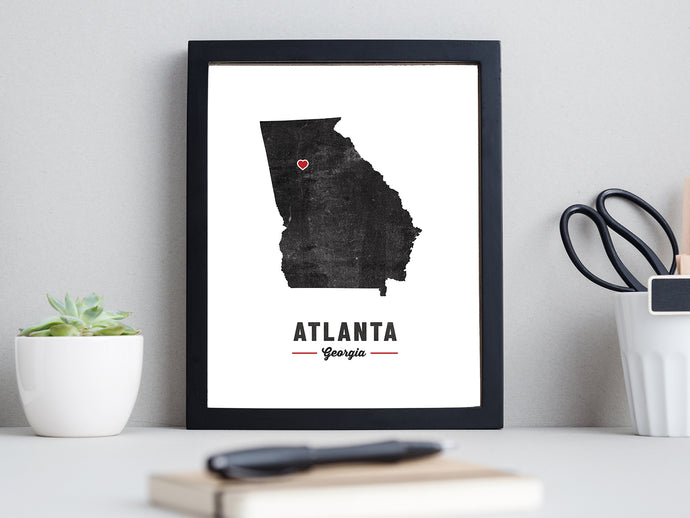 Heart in Atlanta Print
