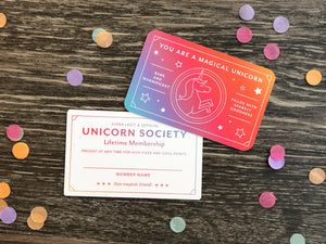 Unicorn Society Card
