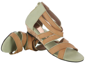 Tan & Green Wedges