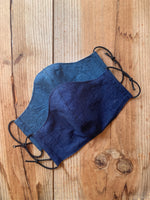 Dark denim face mask