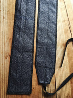 Dark blue glitter wrist wraps