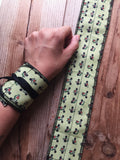 Weightlifting avocado wrist wrap