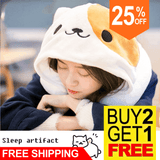 U Shape Travel Neck Pillow With Cute Cat Design Hoodie  - Save 25% Discount Plus FREE SHIPPING