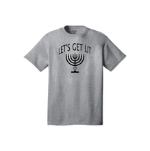 "Load image into Gallery viewer, Hannukah ""Let's Get Lit"" Custom Printed T-Shirt"