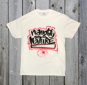 """Naughty by Nature"" Custom Airbrush T-Shirt"