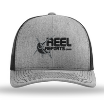 Load image into Gallery viewer, ReelReports Performance Snapback Hat (Grey)
