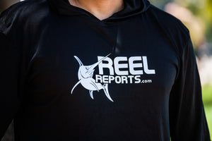 REELREPORTS LONG SLEEVE HOOD - BLACK