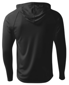 Men's Performance Long Sleeve Hood - Black