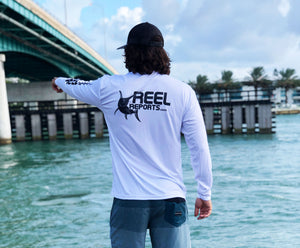 REELREPORTS LONG SLEEVE - WHITE