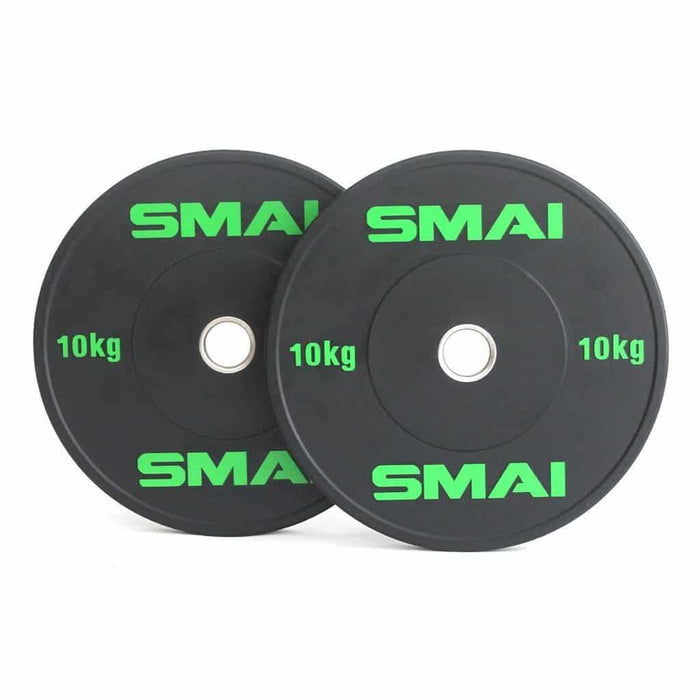 SMAI - HD Bumper Plates (Pair) - 10kg - MMA DIRECT