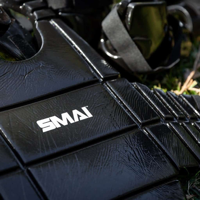 SMAI Dipped Chest Guard Martial Arts Training Protective Equipment P014-BLK - MMA DIRECT