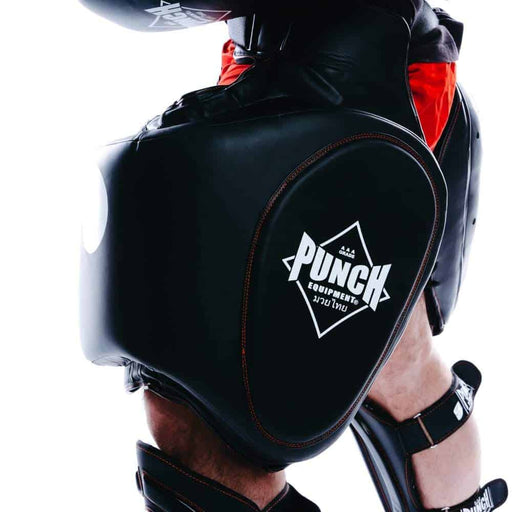PUNCH Black Diamond Trainer Thigh Leg Pads Premium Kickboxing Muay Thai Training - MMA DIRECT