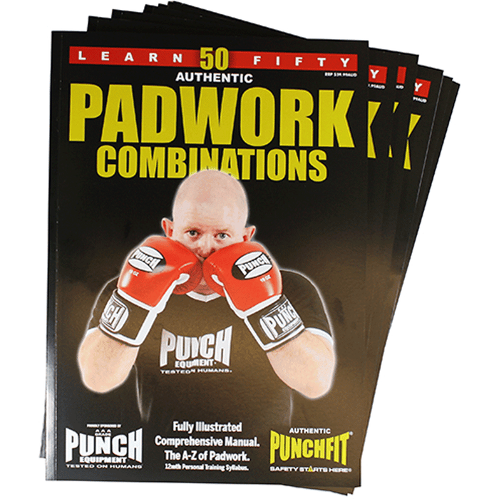 PUNCH 50 Pad Work Boxing Combinations Book Illustrated Manual - MMA DIRECT