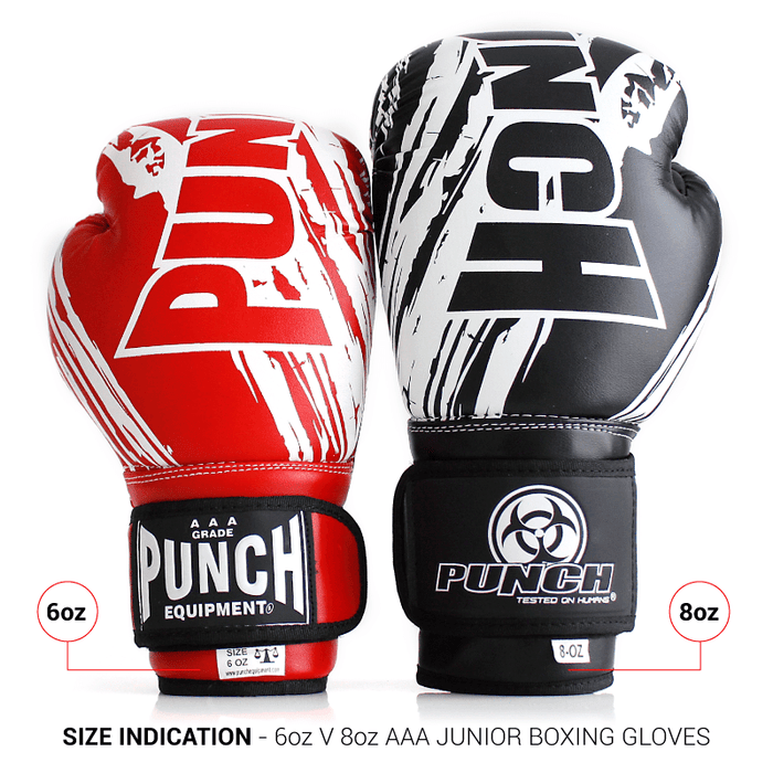 PUNCH Kids / Junior AAA Boxing Gloves 6oz Personal Training - MMA DIRECT