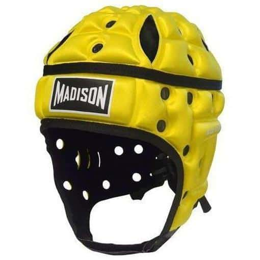 Madison Air Flo Neon Headguard - Yellow Rugby League NRL - Sports Grade