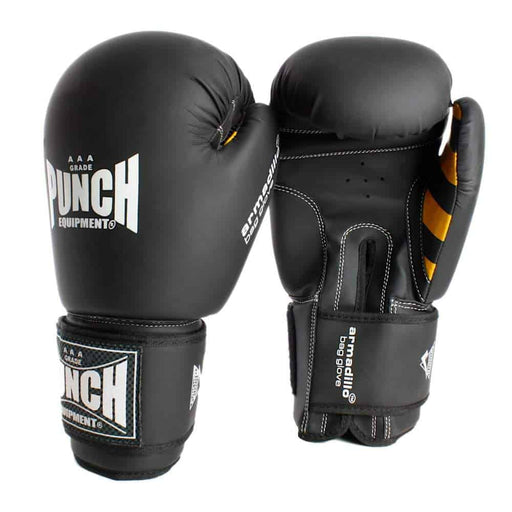 Punch Armadillo Safety Bag Gloves Black - MMA DIRECT