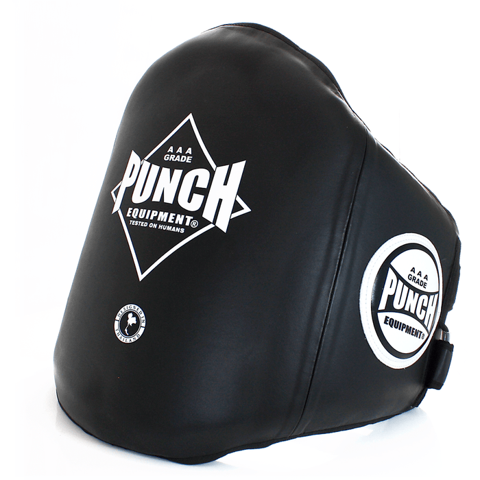 PUNCH Black Diamond Trainer Belly Pad Premium Kickboxing Muay Thai Training - MMA DIRECT