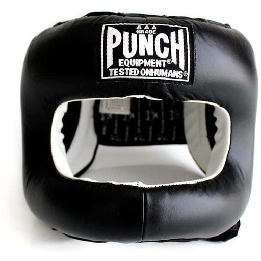 PUNCH Black Diamond Head Gear Jaw/Nose Sparring Protection - MMA DIRECT
