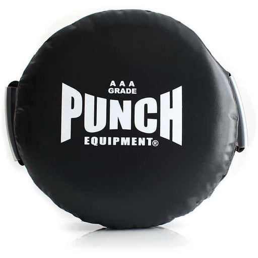 Deluxe Lightweight Punch Black Round Boxing Pad / Shield – Foam Filled 1kg AAA Rated - MMA DIRECT