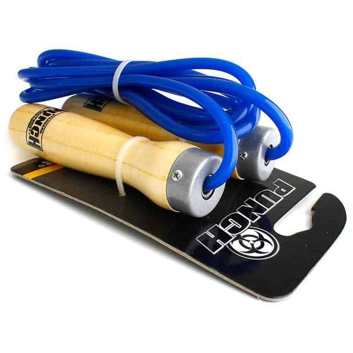 PUNCH Blue 8/9ft Ball Bearing Skipping Rope Cardio Training - MMA DIRECT