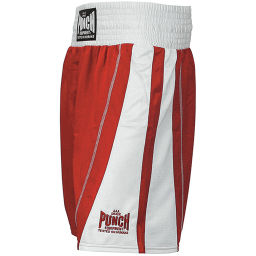 PUNCH International Amateur Competition Boxing Shorts Red / Blue / Black - MMA DIRECT