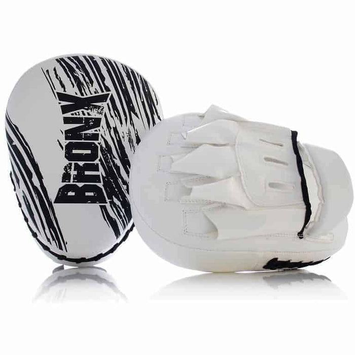PUNCH White Bronx Focus Pads Wrist Support Boxing MMA Martial Arts Training - MMA DIRECT