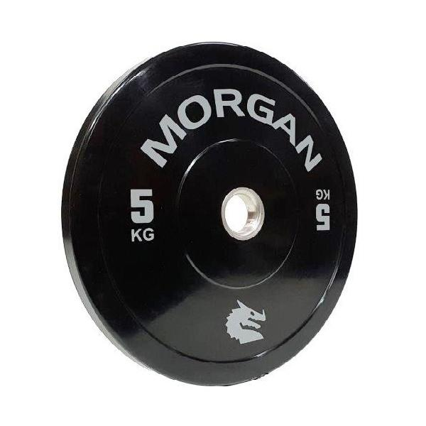 MORGAN 5KG Olympic Bumper Weight Plates Gym Set (PAIR) 2x 5KG - MMA DIRECT