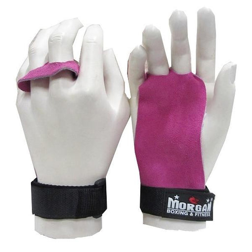 Morgan Suede Leather Palm Grips Pink (Pair) Gym CrossFit - MMA DIRECT
