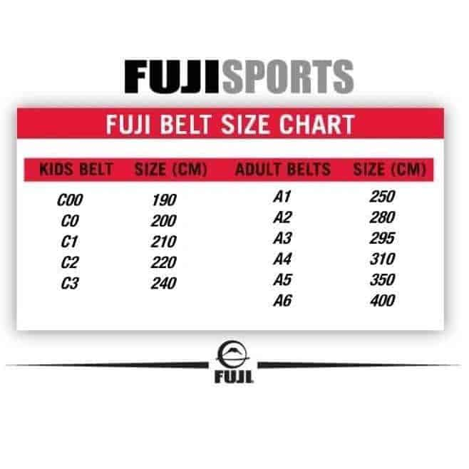 FUJI Jiu-Jitsu Black Belt BJJ 100% Cotton Premium Quality - MMA DIRECT