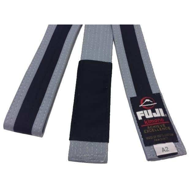 FUJI Kids Jiu-Jitsu Grey-Black Belt BJJ 100% Cotton Premium Quality - MMA DIRECT